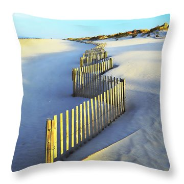Windswept At Sunset - Jersey Shore Throw Pillow