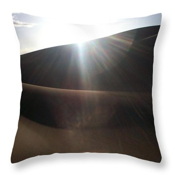 Throw Pillow featuring the photograph Windswept Curves II by Carlee Ojeda