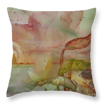 Throw Pillow featuring the painting Windswept by Robin Maria Pedrero