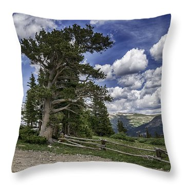 Windy Ancients Throw Pillow