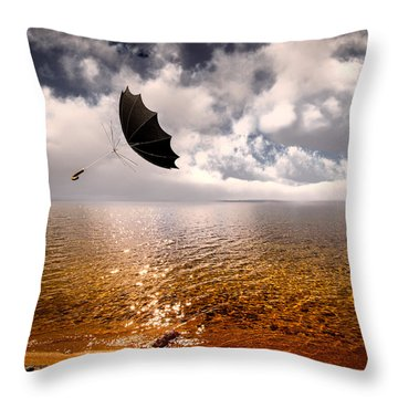 Windy Throw Pillow by Bob Orsillo