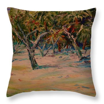 Windy Day At Botany Island Throw Pillow