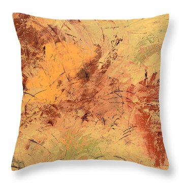 Throw Pillow featuring the painting Windy Day by Linda Bailey