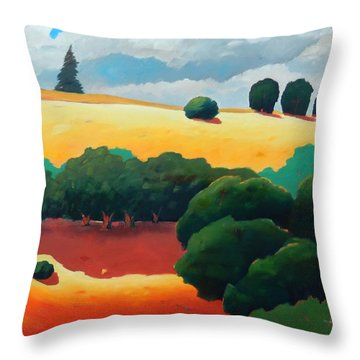 Windy Hill Trip Panel 3 Throw Pillow