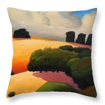 Windy Hill Triptych Revisit Panel Three Throw Pillow