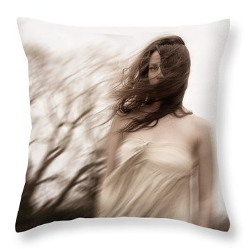 Windy Throw Pillow by Margie Hurwich