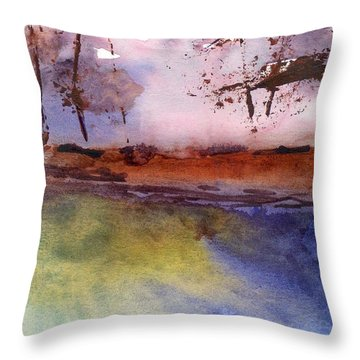 Windy Throw Pillow by Marsden Burnell