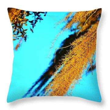 Windy Moss Throw Pillow