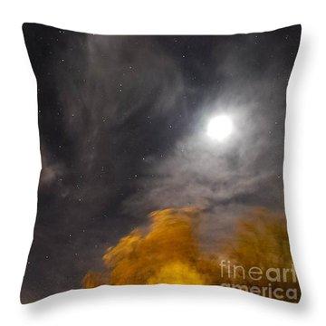 Windy Night Throw Pillow