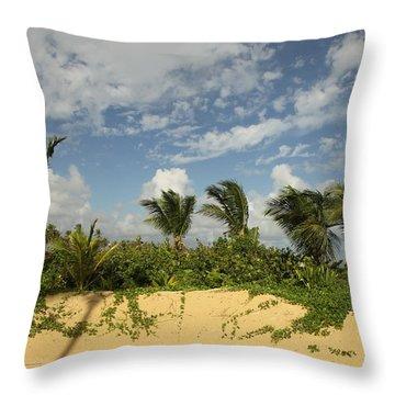 Windy Palms Throw Pillow