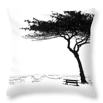 Windy Picnic Throw Pillow