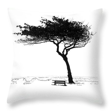 Windy Picnic Throw Pillow