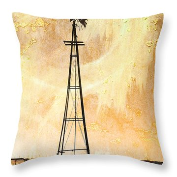 Windy Throw Pillow by Randi Grace Nilsberg