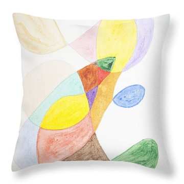 Throw Pillow featuring the painting Windy  by Stormm Bradshaw