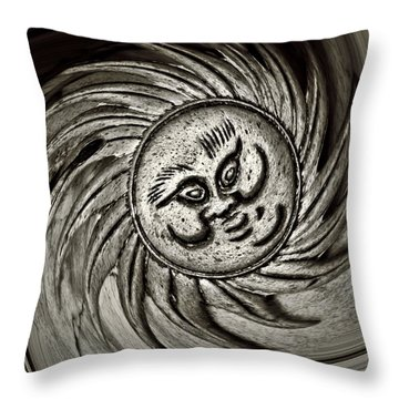 Windy Sun  Throw Pillow by Chris Berry
