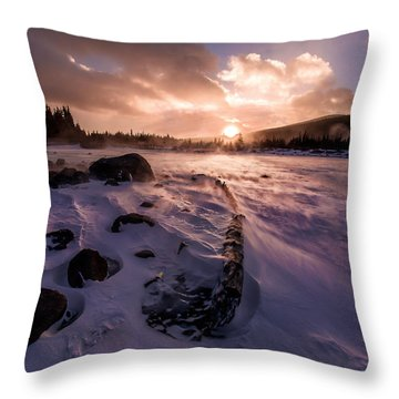 Windy Sunrise Throw Pillow by Steven Reed