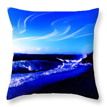 Windy Waterfront At Edmonds Washington Throw Pillow