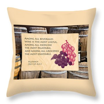 Wine - Best Medicine Throw Pillow
