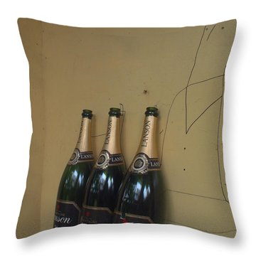 Wine And A Man Throw Pillow by Rachel Mirror