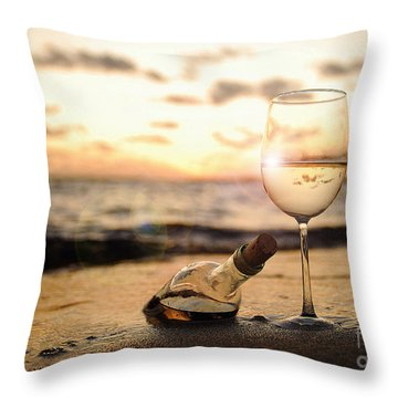 Wine And Sunset Throw Pillow