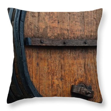 Wine Aplenty Throw Pillow by Frozen in Time Fine Art Photography