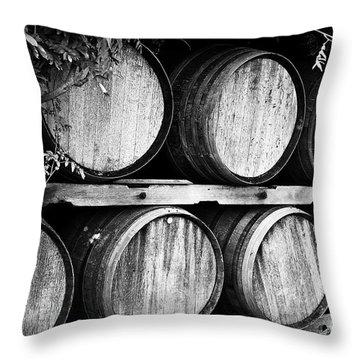 Wine Barrels Throw Pillow by Scott Pellegrin