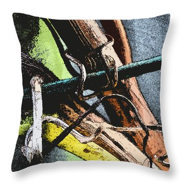 Wine Branches Throw Pillow