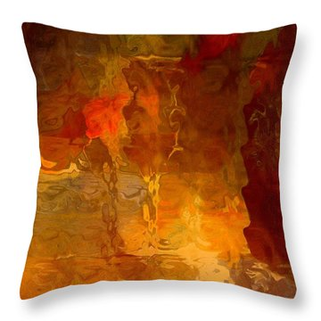Wine By Candlelight Throw Pillow