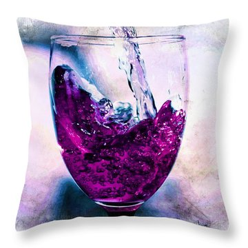 Throw Pillow featuring the photograph Wine Country by Aaron Berg