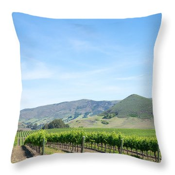 Wine Country Edna Valley Throw Pillow