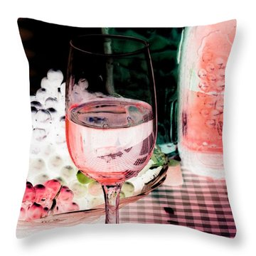 Wine Country - Photopower 03 Throw Pillow by Pamela Critchlow