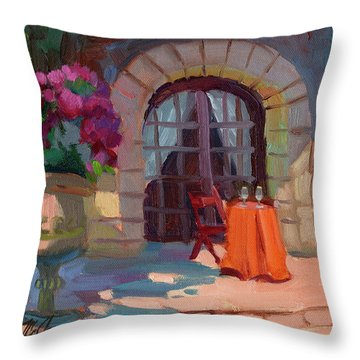 Wine For Two Throw Pillow by Diane McClary