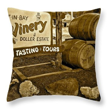 Wine Is Fine Throw Pillow by Frozen in Time Fine Art Photography