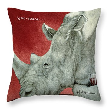 Wine-oceros... Throw Pillow