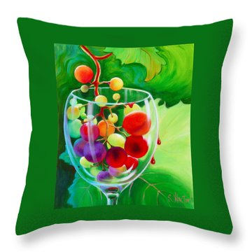 Wine On The Vine IIi Throw Pillow