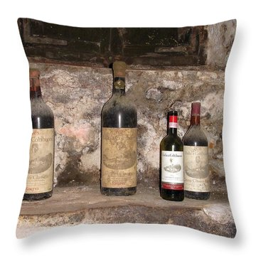 Wine Porn Throw Pillow by Jeff at JSJ Photography