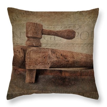 Wine Tap Throw Pillow