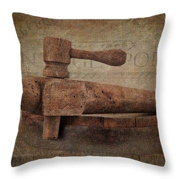 Wine Tap Throw Pillow