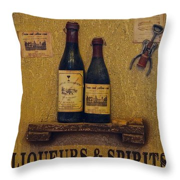 Wine Time Throw Pillow by Frozen in Time Fine Art Photography