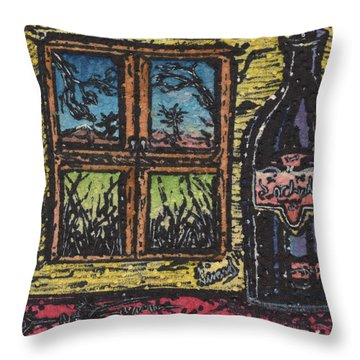 Wine With A View Throw Pillow