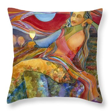 Wine Woman And Song Throw Pillow