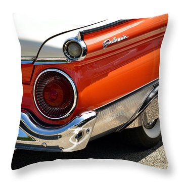 Wing And A Skirt - 1959 Ford Throw Pillow