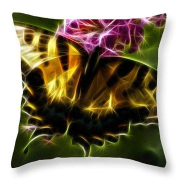 Winged Beauty Throw Pillow by Joann Copeland-Paul