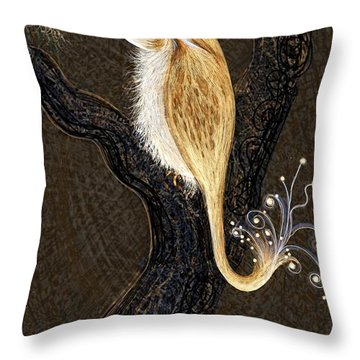 Winged Ribbonor Throw Pillow