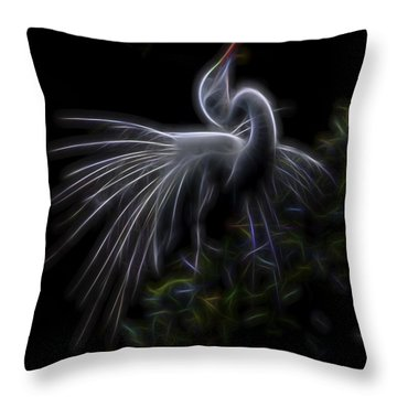 Throw Pillow featuring the digital art Winged Romance 2 by William Horden