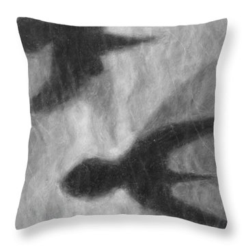 Winged Shadows On Water Black And White Throw Pillow