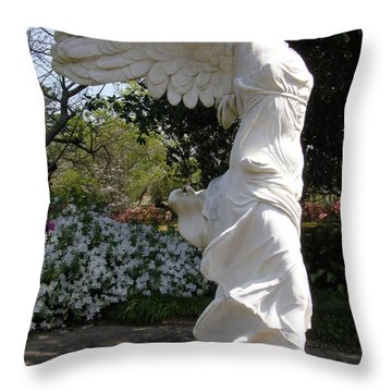 Winged Victory Nike Throw Pillow