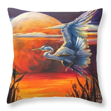 Wings Across The Moon Throw Pillow