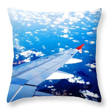 Wings And Clouds Throw Pillow