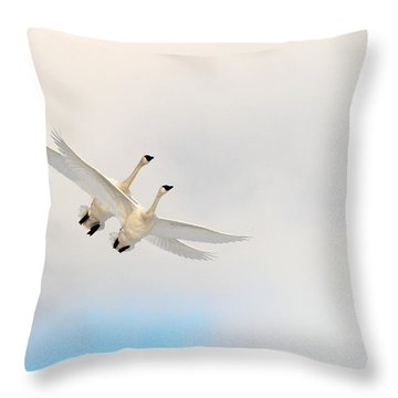Wings Of Angels Throw Pillow